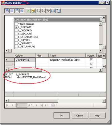 SSIS Query Builder