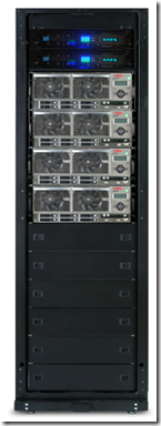 All you need: the SQL Powerrack with an 4 cell ES7000 and only 2 DSI SSD (2U high) shelves.