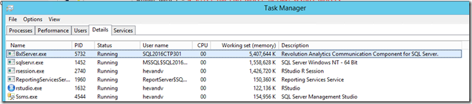 Monitor the BxlServer process memory usage via Windows Task manager