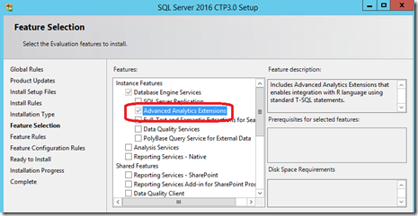 SQLServer 2016 CTP3 Setup
